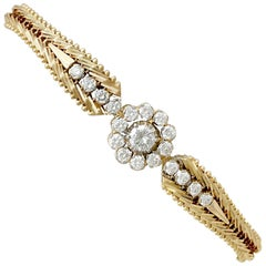 1960s Diamond and Yellow Gold Cluster Bracelet