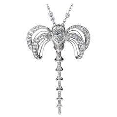 Libellule Diamond Pendant White Gold
