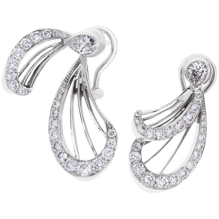 Libellule Diamond Earrings White Gold