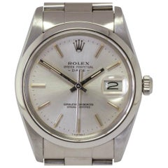 Rolex Stainless Steel Oyster Perpetual Date automatic Wristwatch Ref 15000