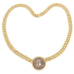 Bulgari Ancient Coin Yellow Gold Necklace