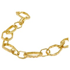 18 Karat Gold and Diamond Gold Link Chain