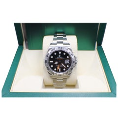 Brand New Rolex Explorer II 216570 Stainless Steel Black Box and Booklets