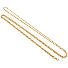 Long Gold Russian Watch Chain