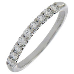 Tiffany & Co. 950 Platinum 0.27 Carat Diamonds Embrace Band Ring
