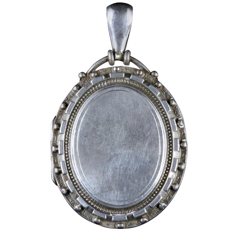 Antique Victorian Locket Silver Locket, circa 1880