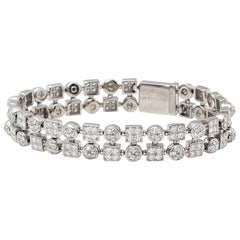 Bulgari 18 Karat White Gold Round Brilliant Cut Diamond Lucéa Bracelet