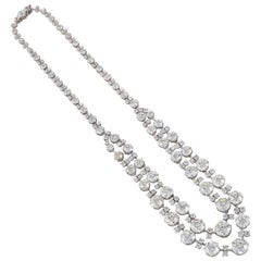 Chaumet Paris Belle Epoque Diamond and Platinum Festoon Necklace