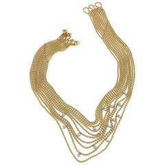 "Cartier Late 20th Century Diamond and Gold ""Nouvelle Vague Collection"" Necklace"