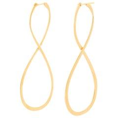 18 Karat Yellow Gold Long Earrings