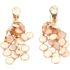 Pink Enamel Chantecler Earrings