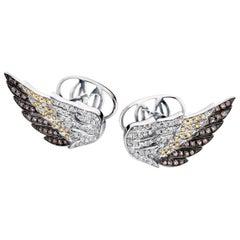 Diamond Wings 18 Karat Gold and Diamond Cufflinks
