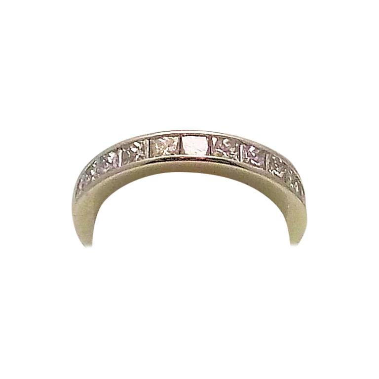 Platinum and Diamond Eternity Band For Sale