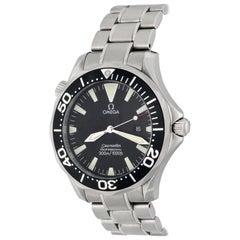 Omega Stainless Steel Seamaster Professional Date Quartz Wristwatch