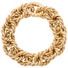 Italian Rope Gold Bracelet with Invisible Clasp