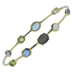 Ippolita Rock Candy Tartan Gemstone Gold Bracelet