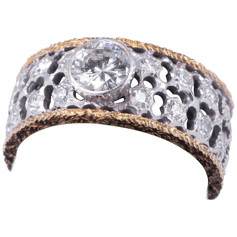 Mario Buccellati Diamond Ring For Sale