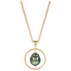 Minka Gems - Tahitian Pearl Pendant set in 18kt yellow gold