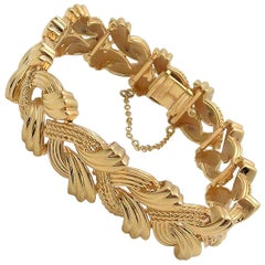 14 Karat Yellow Gold Woven Link Bracelet