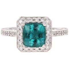 2.44 Carat Apatite Diamond Engagement Ring
