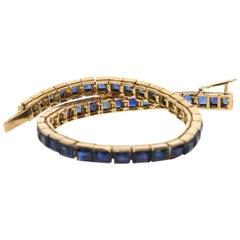 Cartier, 18 Karat, Sapphire Line Bracelet
