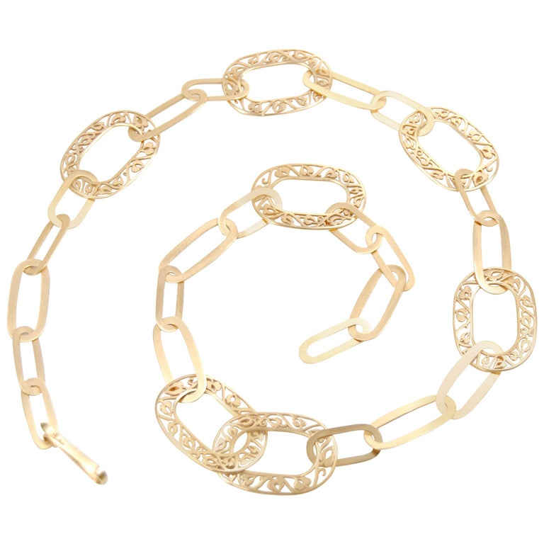 Pomellato Satin Gold Necklace from Arabesque Collection