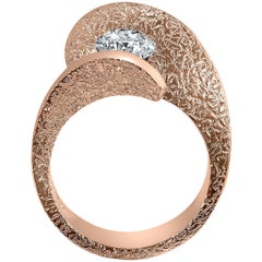 Alex Soldier Dance of Life Diamond Rose Gold Engagement Cocktail Wedding Ring