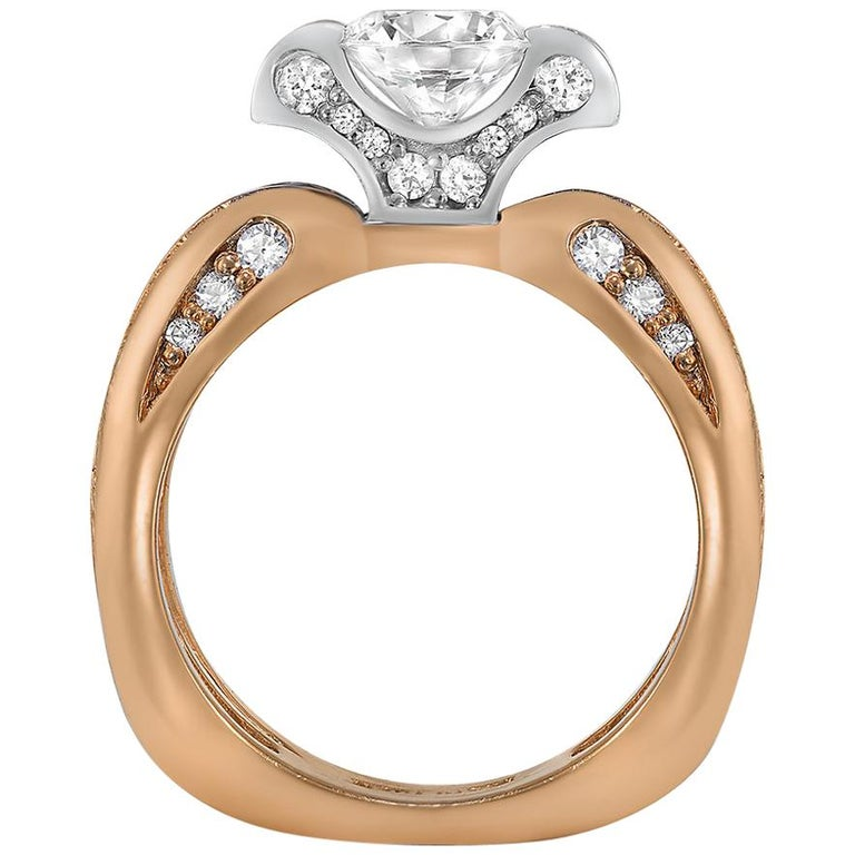 Alex Soldier Lily Diamond Gold Engagement Wedding Cocktail Ring One of a Kind