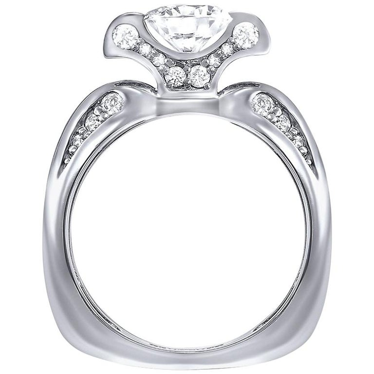 Alex Soldier Lily Diamond White Gold Engagement Wedding Cocktail Ring