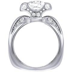 Alex Soldier Lily Diamond Platinum Engagement Wedding Cocktail Ring