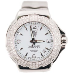 TAG Heuer Ladies Stainless Steel Diamond Formula 1 Quartz Wristwatch