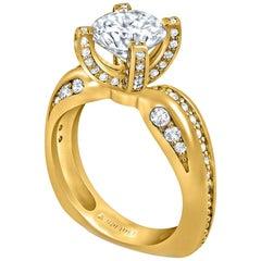 Alex Soldier Modern Sensuality Diamond Engagement Wedding Cocktail Ring