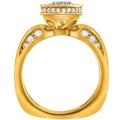Alex Soldier Modern Sensuality Diamond Yellow Gold Engagement Wedding Ring