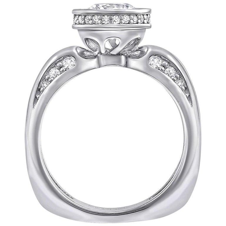 Alex Soldier Modern Sensuality Diamond White Gold Engagement Wedding Ring