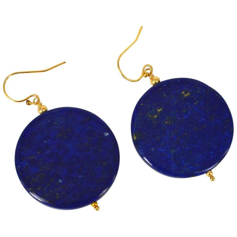 Decadent Jewels Lapis Lazuli Gold Earrings