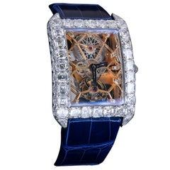 Jacob & Co White Gold Diamond Millionaire Skeleton Manual Winding Wristwatch