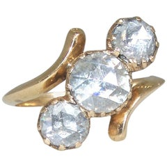 Antique Dutch Rose Cut Diamond Ring