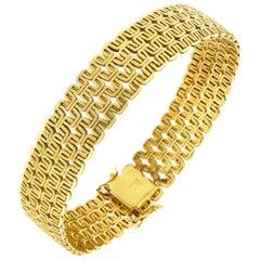18 Karat Yellow Gold Bracelet Made in Italy