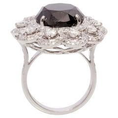 18 Karat Gold Black Diamond Ring