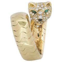 Cartier Panthere De Cartier Diamond and Emerald Ring 2.07 Carat