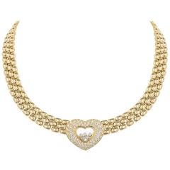Chopard Yellow Gold Happy Diamonds Necklace