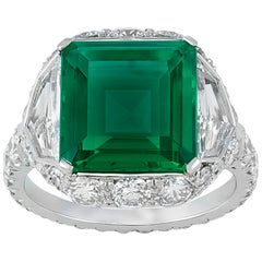 Untreated Colombian Emerald Ring, 4.18 Carat