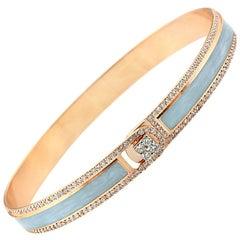 18K & 1.65cts Light Grey Border Spectrum Rose Gold & Diamonds Bracelet by Alessa
