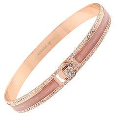 18K & 1.65 cts Rose Border Spectrum Rose Gold & Diamonds Bracelet by Alessa