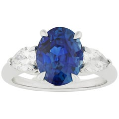 Sapphire and Diamond Ring, 3.90 Carats