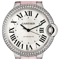 Cartier Ladies White Gold Silvered Dial Automatic Wristwatch