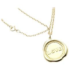 Van Cleef & Arpels Vintage Love Yellow Gold Pendant Necklace
