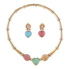 Adler Gem-Set Necklace and Earrings