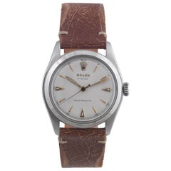 Rolex Stainless Steel Oyster manual wind Wristwatch Ref 6082, circa 1952
