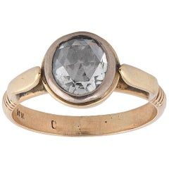 Rose Cut Diamond Single-Stone Ring